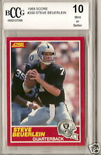 1989 SCORE FOOTBALL BCCG 10 STEVE BEUERLEIN  RC