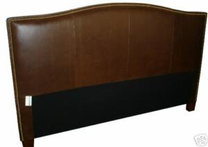 Classic King Size Genuine Leather Headboard for bed. NEW!!!
