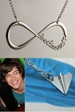 Lot  2 Colliers pendentif style One direction avion airplane et infini infinity