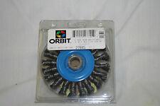 "NIB ORBIT 4"" MINI WIRE GRINDING WHEEL 4 X .014 X 58/-11 NC AH #27845"