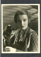 BEAUTIFUL CONSTANCE CUMMINGS AS A TELEPHONE OPERATOR - 1934 PHOTO BY ALEXANDER