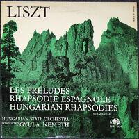 LISZT - Ungarische Rhapsody - Klassik LP Schallplatte - Sammlerstück selten rar