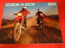 1984 Honda XL350 / XL250 R Motorcycle Sales Brochure - Literature