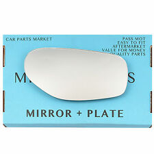 Right side Flat Wing mirror glass for TVR chimaera Griffith 1992-03 +plate