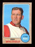 1968 Topps Baseball #133 Fred Whitfield Cincinnati Reds - SBID006