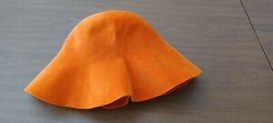 Vintage Borsalino Italian Orange Wool Felt Women's Bucket Hat