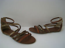 COLE HAAN GRAND.OS MRCER GLADIATOR LEATHER SANDAL WOMEN SIZE 9.5B SIZE US 6 NEW