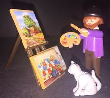 Playmobil 5404 Artist Painter Complete With 3 Paintings Cat Easel 5300 Free Ship