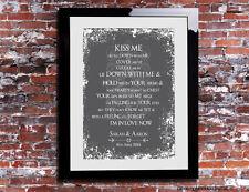 Kiss Me Ed Sheeran Lyrics Print Wedding Song Personalised Canvas Gift
