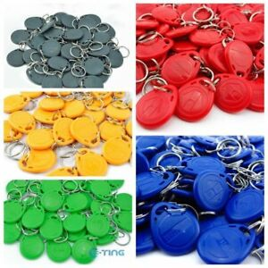 100 X 125Khz RFID Proximity ID Card Token Tags Key Keyfobs UK