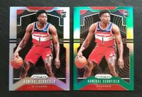 2019-20 Prizm Admiral Schofield Silver..Green..5 base RC Washington Wizards