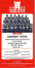 Grimsby Town League Cup Home Teams F-K Football Programmes