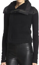 New RICK OWENS Biker Leather Shoulder Collar Jacket (Black) Size 8 US / 42 IT