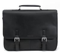 Kenneth Cole Reaction Leather Flap Portfolio Black Briefcase B3733