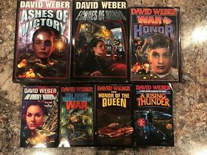 David Weber Book Lot 7 Books 3 Hardback 4 Paperback