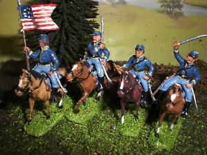 Painted American Civil War Union Cavalry. Scale 1:72.
