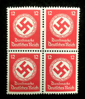 Authentic Germany MNH WWII PF12 Stamp BLOCK 1942