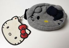 Hello Kitty Sanrio Coin Bag Purse Gray Tshirt Material by Loungefly