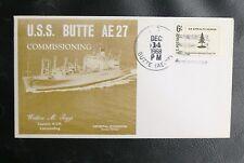 US NAVY SHIP COVERS : USS BUTTE - ( AE-27 ) - OBLITERATION DU 14 DECEMBRE 1968
