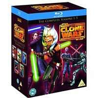 Star Wars: Clone Wars - Complete Series Seasons 1 2 3 4 5 [Blu-ray Region Free]