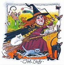 LARGE LTD EDITION CAT WITCH PRINT FROM ORIGINAL PAINTING BY SUZANNE LE GOOD