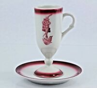 Sterling Flaming Devil Demitasse Saucer Set Cafe Brulot Diobolique El Diablo USA