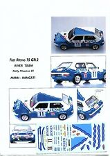 Decal - Fiat  RITMO Gr.2 - RIVER TEAM - Rally MESSINA   1981