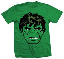 Marvel Comics - Hulk Big Head Verde T-Shirt Unisex Tg. S ROCK OFF