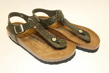 Birkenstock BF KAIRO $169rrp - Shiny Snake Olive BNIB 1000447 ***CLEARANCE***