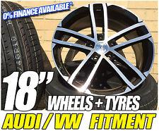 """18"""" NOGARO B+P ALLOY WHEELS with 2254018 tyres VW GOLF TOURAN PASSAT"""