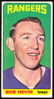 1964 65 TOPPS TALL BOYS HOCKEY #77 BOB NEVIN  VG-EX N Y RANGERS CARD