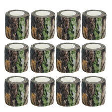 12 Rolls 4.5M Military Camo Stretch Bandage Hunting Camouflage Tape Rifle Wrap