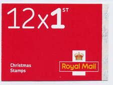 Gb 2016 12 x 1st Class Christmas Robin Booklet Lx52