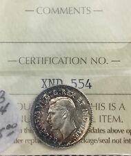 Canada 1938   10 Cents  ICCS MS 64 Toned Silver Dime GEM  UNC