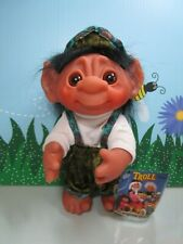 "1977 YODEL WITH HANG TAG - 9"" Dam Norfin Troll Doll - VERY RARE COMPLETE"