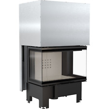 Kamineinsatz kratki NBC 10 mit 6,5-12 kW Hebetür 3 seitig verglast Panoramakamin