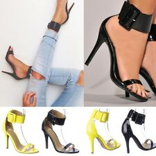 Ankle Cuffed strap Open Toe Stiletto High Heels Platform Pumps Sandals Size H20
