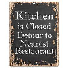 PP0382 Rust Funny Menu Parking Plate Sign Bar Store Shop Cafe Home Kitchen Decor