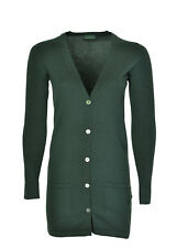 FRED PERRY cardigan lungo donna made in ITALY