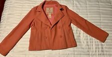 Abercrombie & Fitch Woman's Pink Wool Peacoat Size L Preowned