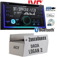 JVC Autoradio für Dacia Logan 2 MCV CD Bluetooth Android Apple USB Einbauset