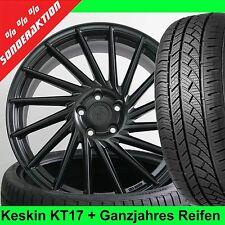 "18"" Keskin KT17 E3 Schwarz Allwetter 225/40 für Audi A6 & A6 Avant Typ 4B"