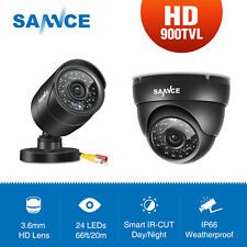 SANNCE 900TVL Dome/Bullet Black Outdoor IR Cut Night Vision CCTV Camera Security