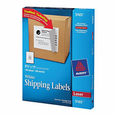 Avery Permanent Adhesive Full Sheet Labels With Trueblock Technology For Laser