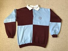 VINTAGE WEST HAM QUARTERED RUGBY SHIRT. ADULT X-SMALL. EXCELLENT CONDITION.