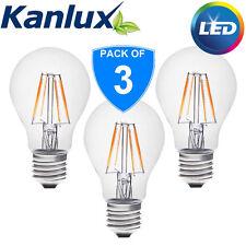3x Kanlux 4W 37W Equivalent 420Lm LED SMD Globe GLS E27 Light Bulb Lamp Daylight