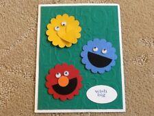 Wish big birthday Sesame Street 3 friends card kit of 10 made w/ Stampin' Up!
