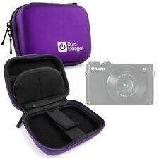 Purple Hard Case for Canon PowerShot G9 X - with Carabiner Clip w/ Wrist Strap