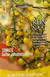 Tomate gelbe Johannisbeere - Saatgut - Samen BIO aus biologischem Anbau Rarität