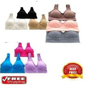 💙Ladies Genie Bra Sport Yoga Bra with Removable pads size ,S M,L,XL,XXL,XXXL